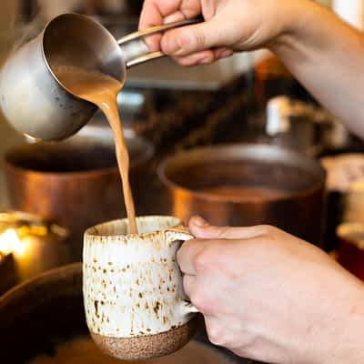 Pouring Masala Chai - Valencia St.-1