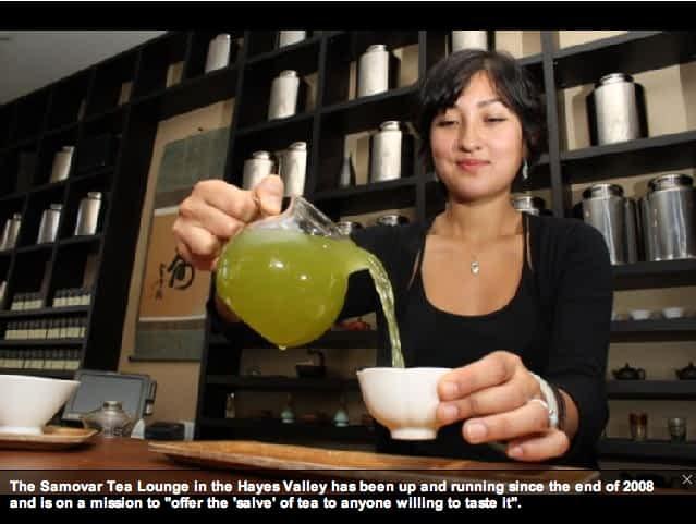 Samovar Hayes Valley ~ Pouring some choice Japanese Sencha