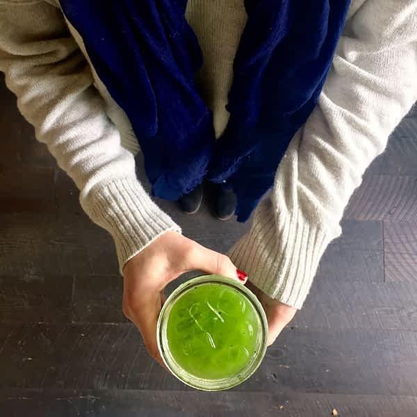 A Green ice Tea is cherished at Samovar Teahouse