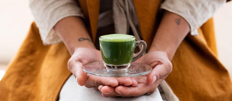 Green Tea Matcha in a Shot Glass