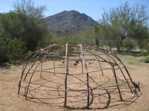 The Willow Frame of the Uncovered Arizona Lodge