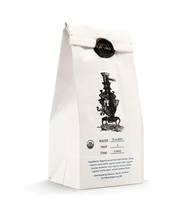 Velvet Cacao - White Bag - Back - 0502VECABG